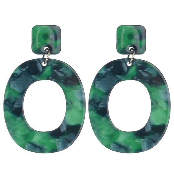 Large vintage funky acrylic earrings